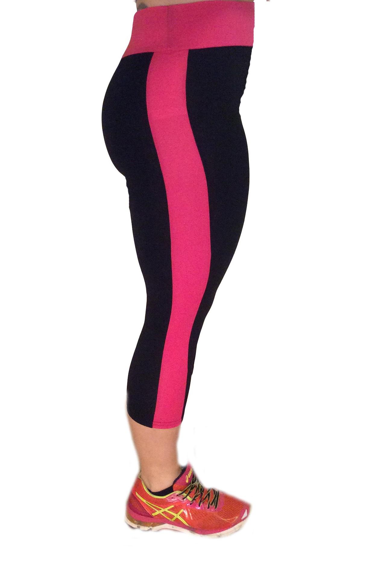 Leggings Nuria Svart/Rosa (XL)