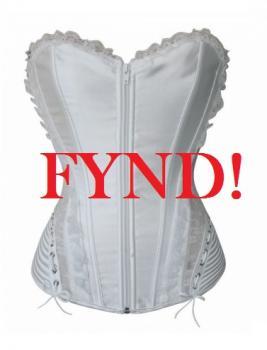 Vacker vit korsett - FYND