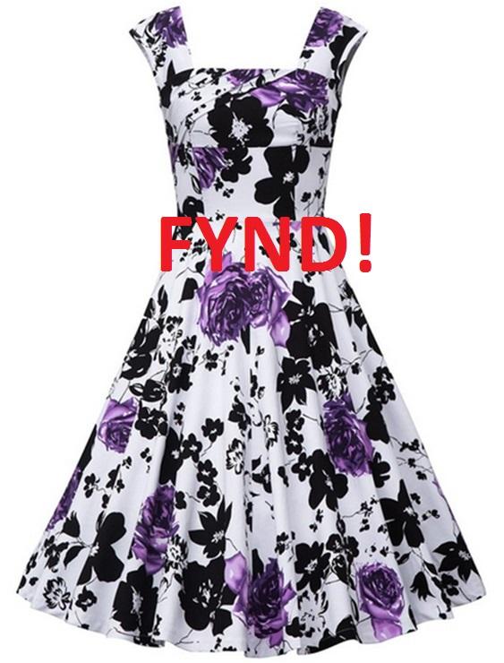 Klänning Vintage Lila - Fynd (S)