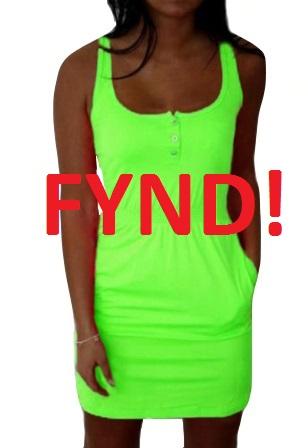 Klänning Ljusgrön - Fynd (S)