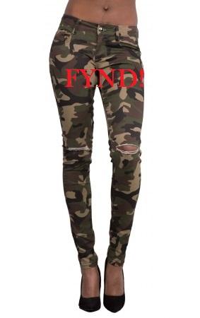 Kamouflagemönstrade jeans - FYND (S)