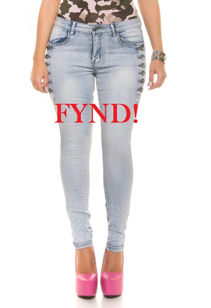 Ljusblå stretchjeans - FYND (46)