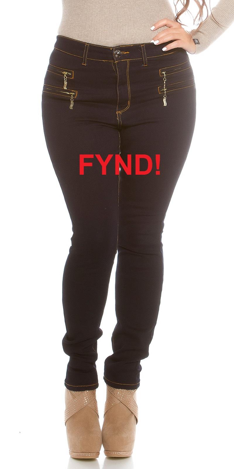 Blå stretchjeans - Fynd (38)