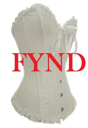 Vit korsett - Fynd (L)