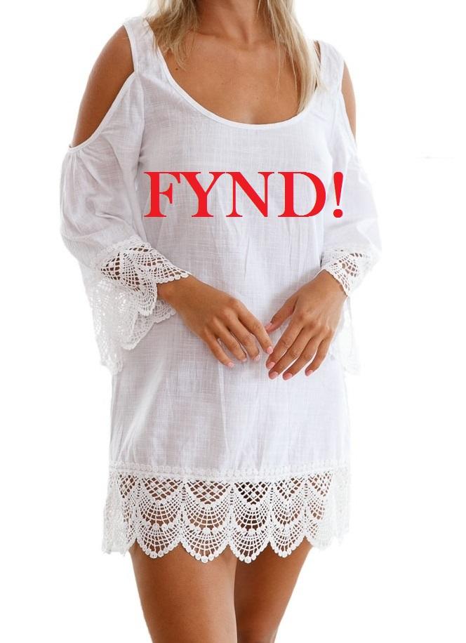 Vit strandklänning - FYND (S)