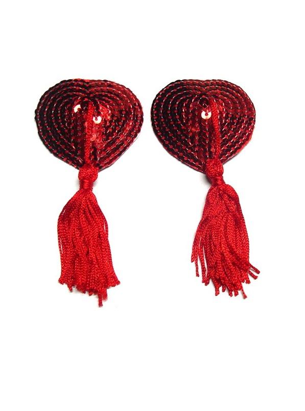 Heart Nipple Covers Röd