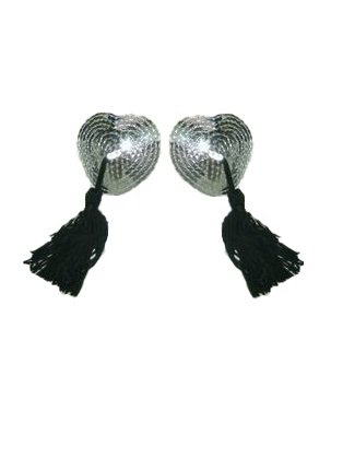 Heart Nipple Covers Silver