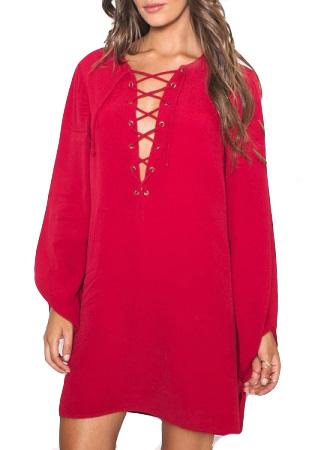 Skjorta Tyra Röd (S)
