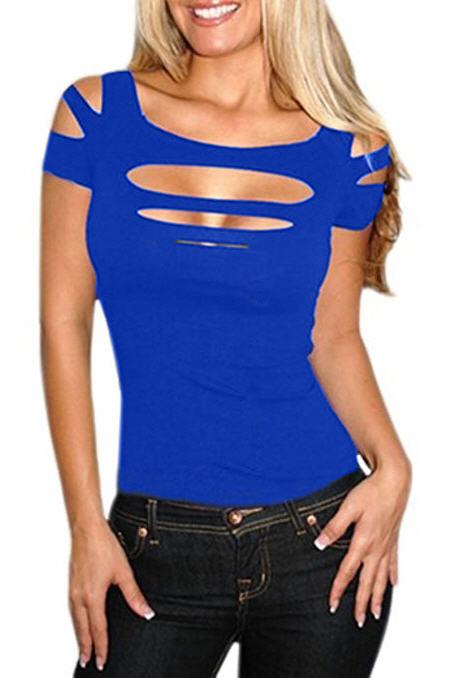 T-Shirt Ritva Blå (S)