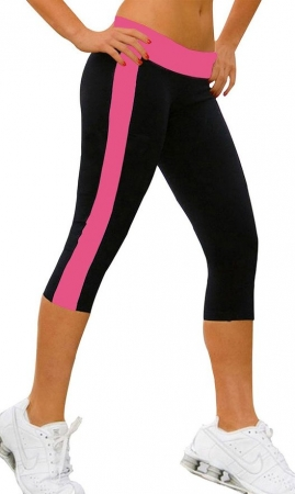 Leggings Nuria Svart/Rosa (XL)